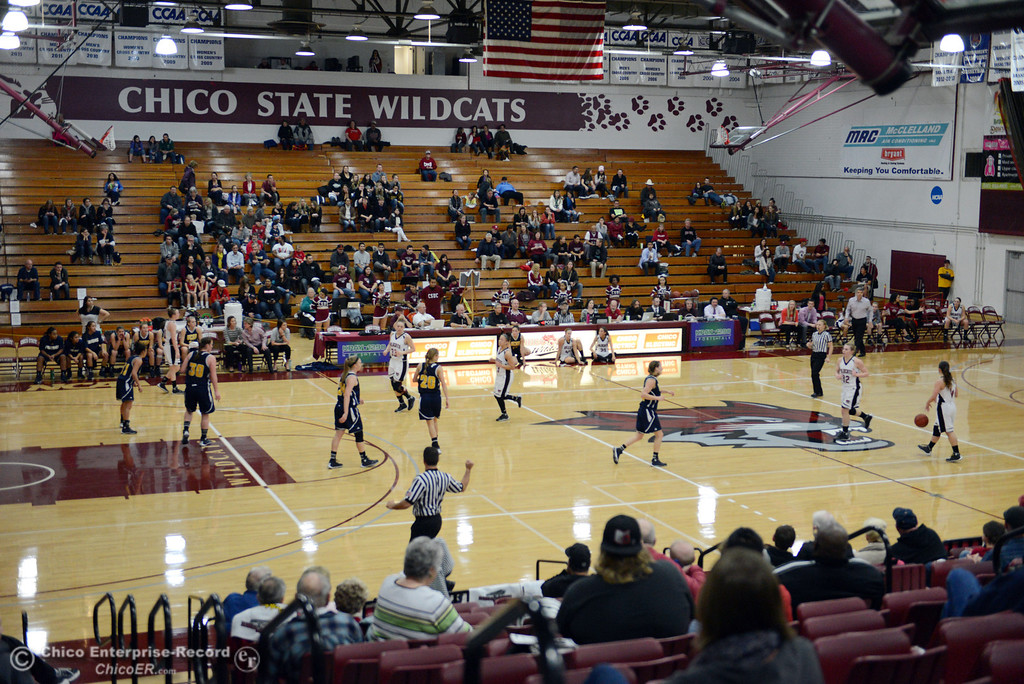 . Chico State against UC San Diego in the first half of their women\'s basketball game at CSUC Acker Gym Friday, February 7, 2014 in Chico, Calif.  (Jason Halley/Chico Enterprise-Record)
