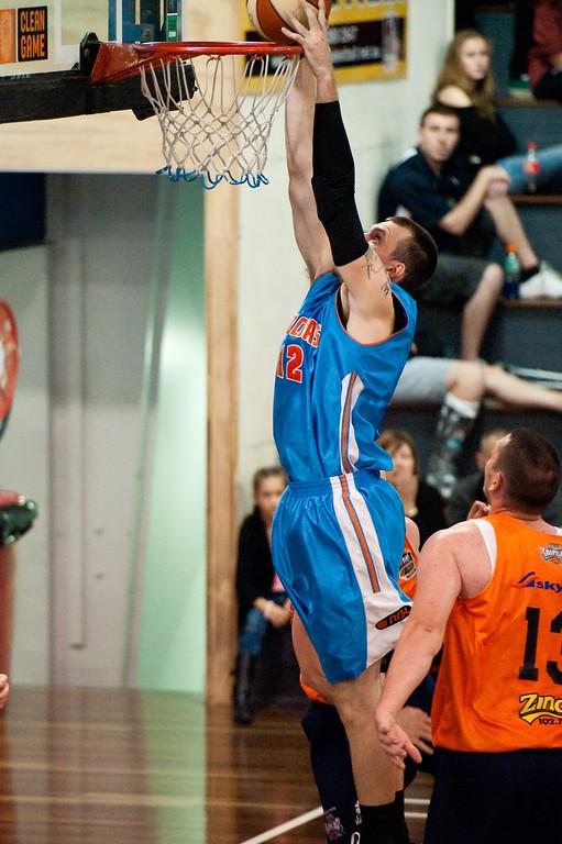"""Will Hudson - Cairns Taipans v Gold Coast Blaze Pre-season  NBL Basketball, Auchenflower, Brisbane, Queensland, Australia; 3 September 2011. Photos by Des Thureson:  <a href=""""http://disci.smugmug.com"""">http://disci.smugmug.com</a>."""