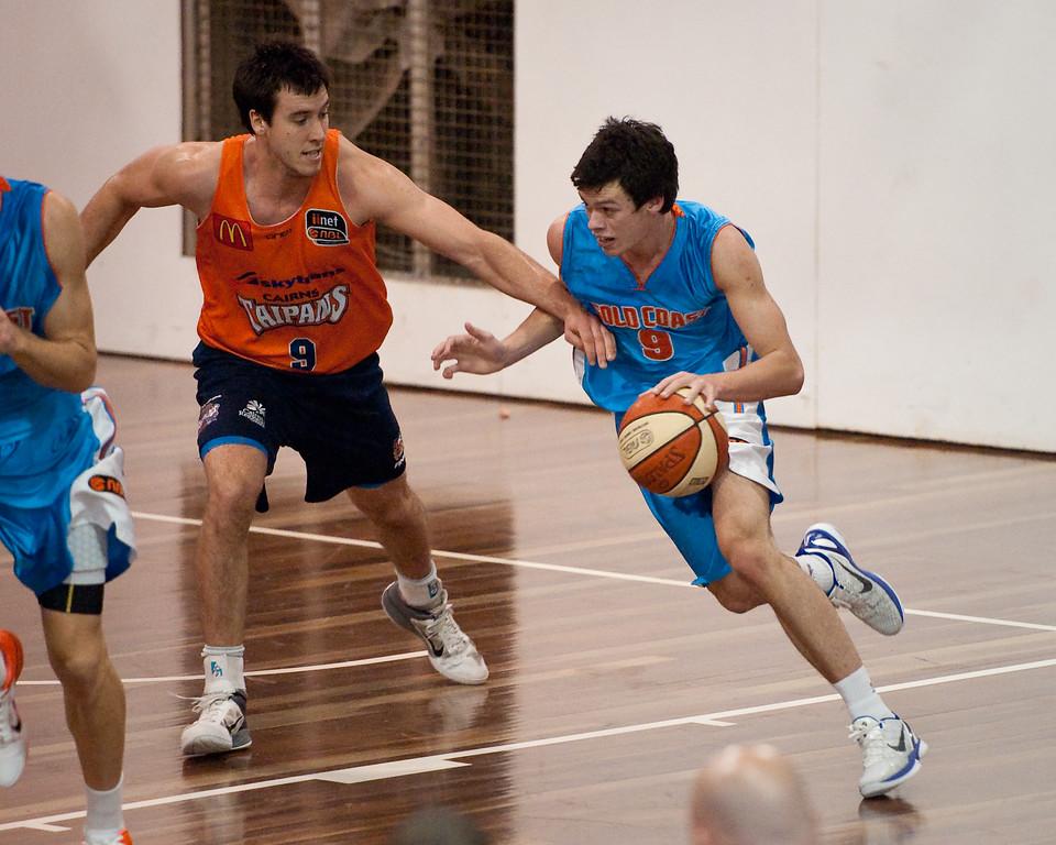 "Cairns Taipans v Gold Coast Blaze Pre-season  NBL Basketball, Auchenflower, Brisbane, Queensland, Australia; 3 September 2011. Photos by Des Thureson:  <a href=""http://disci.smugmug.com"">http://disci.smugmug.com</a>."