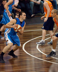 Jimmy Todd (Blue - Blaze) - Cairns Taipans v Gold Coast Blaze Pre-season  NBL Basketball, Auchenflower, Brisbane, Queensland, Australia; 3 September 2011. Photos by Des Thureson:  http://disci.smugmug.com.