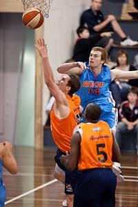 Jeff Dowdell, Tom Garlepp - Cairns Taipans v Gold Coast Blaze Pre-season  NBL Basketball, Auchenflower, Brisbane, Queensland, Australia; 3 September 2011. Photos by Des Thureson:  http://disci.smugmug.com.