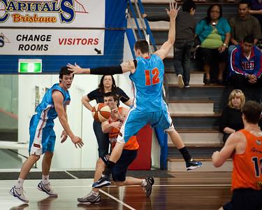 Jackson Hussey, Will Hudson, Jason Cadee - Cairns Taipans v Gold Coast Blaze Pre-season  NBL Basketball, Auchenflower, Brisbane, Queensland, Australia; 3 September 2011. Photos by Des Thureson:  http://disci.smugmug.com.