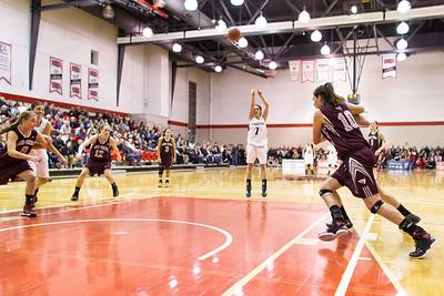 Natasha Plaskacz shooting a foul shot