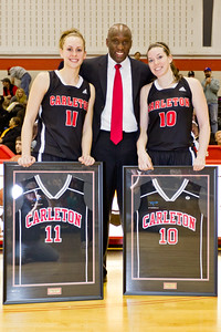 Coach Taffe Charles with Ashleigh Cleary and Kendall MacLeod