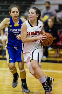 Elizibeth Roach moving the ball