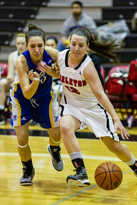 Elizibeth Roach moving the ball