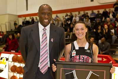 Coach Taffe Charles and graduate Bailey Lomas