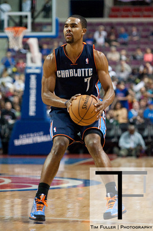 Jan 6, 2013; Auburn Hills, MI, USA; Charlotte Bobcats point guard Ramon Sessions (7) during the second quarter against the Detroit Pistons at The Palace. Mandatory Credit: Tim Fuller-USA TODAY Sports