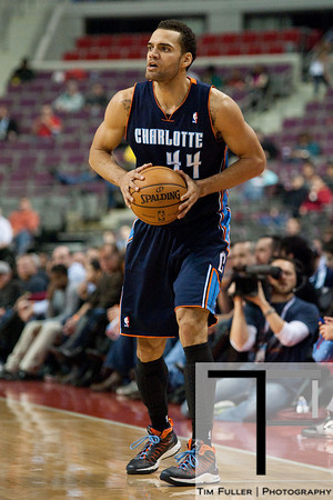 Jan 6, 2013; Auburn Hills, MI, USA; Charlotte Bobcats small forward Jeffery Taylor (44) during the second quarter against the Detroit Pistons at The Palace. Mandatory Credit: Tim Fuller-USA TODAY Sports