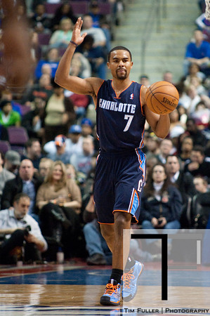 Jan 6, 2013; Auburn Hills, MI, USA; Charlotte Bobcats point guard Ramon Sessions (7) brings the ball up court during the second quarter against the Detroit Pistons at The Palace. Mandatory Credit: Tim Fuller-USA TODAY Sports