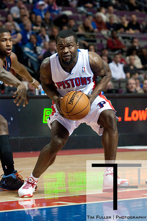 Jan 6, 2013; Auburn Hills, MI, USA; Detroit Pistons point guard Will Bynum (12) during the fourth quarter against the Charlotte Bobcats at The Palace. Bobcats won 108-101 in overtime. Mandatory Credit: Tim Fuller-USA TODAY Sports