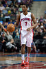 Jan 6, 2013; Auburn Hills, MI, USA; Detroit Pistons point guard Brandon Knight (7) brings the ball up court against the Charlotte Bobcats during the third quarter at The Palace. Bobcats won 108-101 in overtime. Mandatory Credit: Tim Fuller-USA TODAY Sports