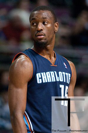 Jan 6, 2013; Auburn Hills, MI, USA; Charlotte Bobcats point guard Kemba Walker (15) during the third quarter against the Detroit Pistons at The Palace. Bobcats won 108-101 in overtime. Mandatory Credit: Tim Fuller-USA TODAY Sports