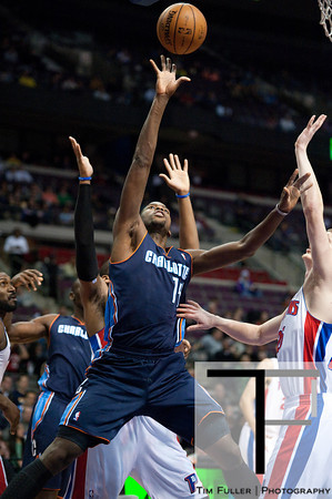 Jan 6, 2013; Auburn Hills, MI, USA; Charlotte Bobcats small forward Michael Kidd-Gilchrist (14) during the first quarter against the Detroit Pistons at The Palace. Mandatory Credit: Tim Fuller-USA TODAY Sports