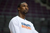Jan 6, 2013; Auburn Hills, MI, USA; Charlotte Bobcats shooting guard Ben Gordon (8) warms up before the game against the Detroit Pistons at The Palace. Mandatory Credit: Tim Fuller-USA TODAY Sports
