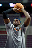 Jan 6, 2013; Auburn Hills, MI, USA; Charlotte Bobcats center Brendan Haywood (33) warms up before the game against the Detroit Pistons at The Palace. Mandatory Credit: Tim Fuller-USA TODAY Sports