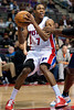 Jan 6, 2013; Auburn Hills, MI, USA; Detroit Pistons point guard Brandon Knight (7) during the third quarter against the Charlotte Bobcats at The Palace. Bobcats won 108-101 in overtime. Mandatory Credit: Tim Fuller-USA TODAY Sports