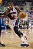 Jan 6, 2013; Auburn Hills, MI, USA; Detroit Pistons center Greg Monroe (10) drives to the basket against the Charlotte Bobcats during the third quarter at The Palace. Bobcats won 108-101 in overtime. Mandatory Credit: Tim Fuller-USA TODAY Sports