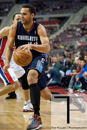 Jan 6, 2013; Auburn Hills, MI, USA; Charlotte Bobcats small forward Jeffery Taylor (44) during the first quarter against the Detroit Pistons at The Palace. Mandatory Credit: Tim Fuller-USA TODAY Sports