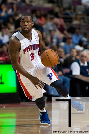 April 15, 2012; Auburn Hills, MI, USA; Detroit Pistons point guard Rodney Stuckey (3) drives to the basket against the Chicago Bulls during the third quarter at The Palace. Chicago won 100-94 in overtime. Mandatory Credit: Tim Fuller-US PRESSWIRE