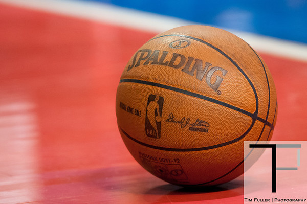 April 15, 2012; Auburn Hills, MI, USA; A detailed shot of the basketball during the game between the Detroit Pistons and the Chicago Bulls at The Palace. Chicago won 100-94 in overtime. Mandatory Credit: Tim Fuller-US PRESSWIRE