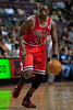 April 15, 2012; Auburn Hills, MI, USA; Chicago Bulls small forward Luol Deng (9) during the first quarter against the Detroit Pistons at The Palace. Mandatory Credit: Tim Fuller-US PRESSWIRE