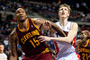 Feb 1, 2013; Auburn Hills, MI, USA; Cleveland Cavaliers power forward Marreese Speights (15) and Detroit Pistons shooting guard Kyle Singler (25) battle for position during the fourth quarter at The Palace. Detroit won 117-99. Mandatory Credit: Tim Fuller-USA TODAY Sports