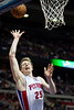 Feb 1, 2013; Auburn Hills, MI, USA; Detroit Pistons shooting guard Kyle Singler (25) during the fourth quarter against the Cleveland Cavaliers at The Palace. Detroit won 117-99. Mandatory Credit: Tim Fuller-USA TODAY Sports