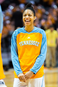 February 21, 2013: center Isabelle Harrison #20 of the Tennessee Lady Volunteers before the NCAA basketball game between the University of Tennessee  Lady Volunteers and the Auburn Tigers at Thompson-Boling Arena in Knoxville, TN