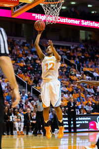 February 21, 2013:  forward Bashaara Graves #12 of the Tennessee Lady Volunteers shoots the ball during the NCAA basketball game between the University of Tennessee  Lady Volunteers and the Auburn Tigers at Thompson-Boling Arena in Knoxville, TN