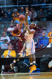January 28, 2013:  forward Jasmine Jones #2 of the Tennessee Lady Volunteers blocks the shot of guard Katia May #11 of the Mississippi State Lady Bulldogs during the NCAA basketball game between the University of Tennessee  Lady Volunteers and Mississippi State University Lady Bulldogs at Thompson-Boling Arena in Knoxville, TN