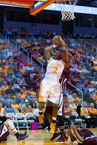 January 28, 2013: forward Jasmine Jones #2 of the Tennessee Lady Volunteers shoots during the NCAA basketball game between the University of Tennessee  Lady Volunteers and Mississippi State University Lady Bulldogs at Thompson-Boling Arena in Knoxville, TN