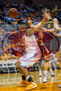 January 10, 2013:forward Bashaara Graves #12 of the Tennessee Lady Volunteers in action during the NCAA basketball game between the University of Tennessee  Lady Vols and the University of Missouri Tigers at Thompson-Boling Arena in Knoxville, TN