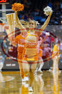 January 10, 2013:University of Tennessee cheerleaders during the NCAA basketball game between the University of Tennessee  Lady Vols and the University of Missouri Tigers at Thompson-Boling Arena in Knoxville, TN