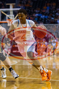 January 10, 2013: guard Kamiko Williams #4 of the Tennessee Lady Volunteers during the NCAA basketball game between the University of Tennessee  Lady Vols and the University of Missouri Tigers at Thompson-Boling Arena in Knoxville, TN