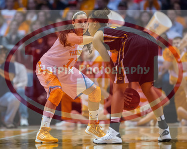 January 10, 2013: guard Taber Spani #13 of the Tennessee Lady Volunteers during the NCAA basketball game between the University of Tennessee  Lady Vols and the University of Missouri Tigers at Thompson-Boling Arena in Knoxville, TN