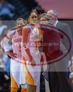 January 10, 2013:head coach Holly Warlick and guard Meighan Simmons #10 of the Tennessee Lady Volunteers during the NCAA basketball game between the University of Tennessee  Lady Vols and the University of Missouri Tigers at Thompson-Boling Arena in Knoxville, TN