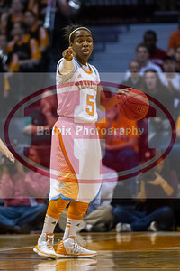 January 10, 2013: point guard Ariel Massengale #5 of the Tennessee Lady Volunteers during the NCAA basketball game between the University of Tennessee  Lady Vols and the University of Missouri Tigers at Thompson-Boling Arena in Knoxville, TN