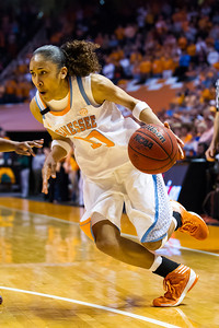 February 28, 2013: guard Meighan Simmons #10 of the Tennessee Lady Volunteers drives to the basket during the NCAA basketball game between the University of Tennessee  Lady Volunteers and the Texas A&M Aggies at Thompson-Boling Arena in Knoxville, TN