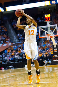 February 28, 2013:  forward Bashaara Graves #12 of the Tennessee Lady Volunteers shoots the ball during the NCAA basketball game between the University of Tennessee  Lady Volunteers and the Texas A&M Aggies at Thompson-Boling Arena in Knoxville, TN