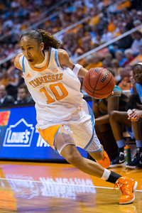 December 2, 2012: guard Meighan Simmons #10 of the Tennessee Lady Volunteers  in action during the NCAA women's basketball game between the University of North Carolina Tar Heels and the University of Tennessee Lady Vols at Thompson-Boling Arena in Knoxville, TN