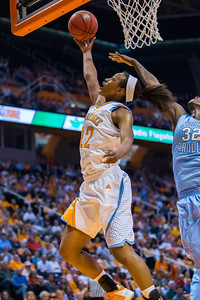 December 2, 2012: forward Bashaara Graves #12 of the Tennessee Lady Volunteers   in action during the NCAA women's basketball game between the University of North Carolina Tar Heels and the University of Tennessee Lady Vols at Thompson-Boling Arena in Knoxville, TN