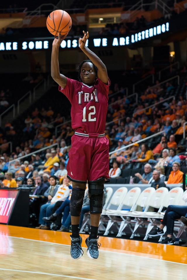 NCAA Basketball 2017: Troy vs Tennessee DEC 06