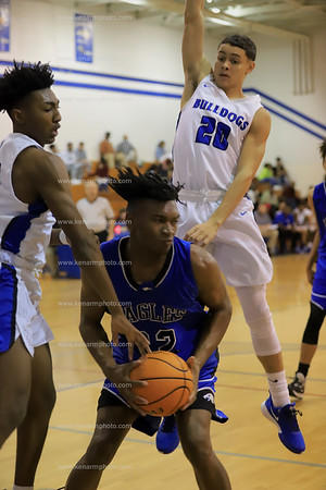 East Bladen vs St Pauls 2020 boys playoff basketball