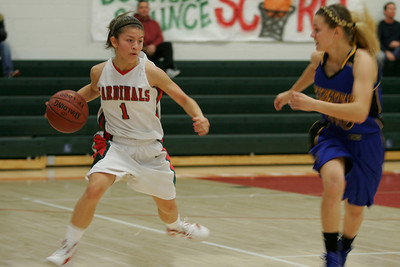 Lindsay's Destiny Garcia (1) drives the ball against Brooke Coates (00) of Exeter.
