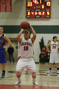 Christina Campos (10) shoots free throws against Exeter on January 11, 2013.