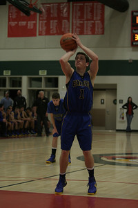 Exeter's Dominic Cascario shoots free throws against Lindsay on January 11, 2013.