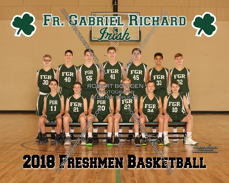 2018 FGR  Freshman Mens Basketball Team 8x10