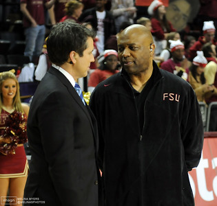 Coach Leonard Hamilton is interviewed during ESPN College Gameday's live broadcast from Tallahassee before the start of the FSU vs. UNC Basketball game held on Jan. 14th.