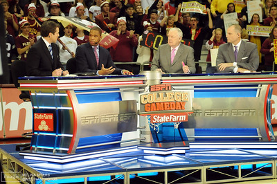 ESPN College Gameday broadcasted live from Tallahassee before the start of the FSU vs. UNC Basketball game held on Jan. 14th.